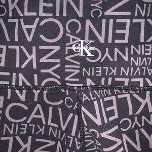 Calvin Klein logo leggings in black & gray